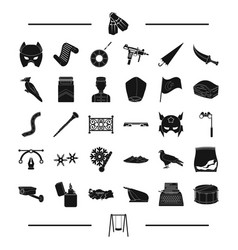 hotel travel weather and other web icon in black vector image