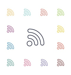 Wifi flat icons set vector