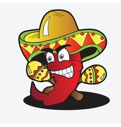 A chili character with a pair of vector