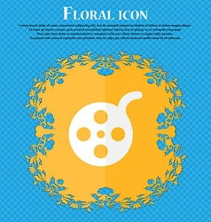 Film floral flat design on a blue abstract vector
