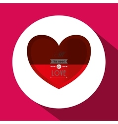 Love with heart design vector