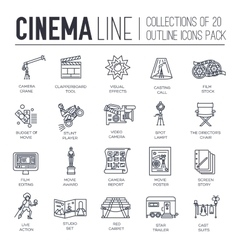 Premium quality cinema industry thin line design vector