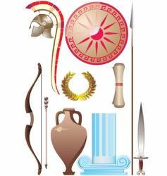 ancient greece set vector image vector image