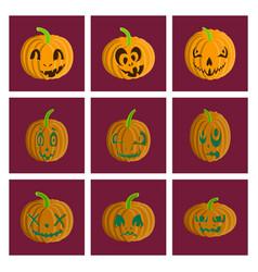 Assembly flat halloween pumpkin vector