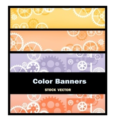 Banners gear vector image