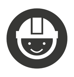 Construction builder silhouette icon vector