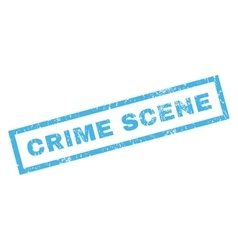 Crime scene rubber stamp vector