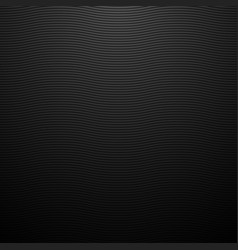 Dark abstract background black wavy lines carbon vector