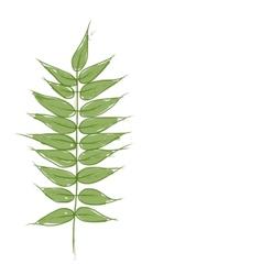 Green petal sketch for your design vector image