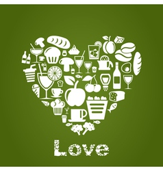 Heart food2 vector image vector image