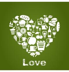 Heart food2 vector image vector image
