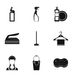 House cleaning icons set simple style vector
