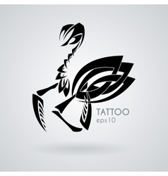 image of a praying mantis style tribal vector image
