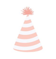 Light pink color silhouette party hat with vector