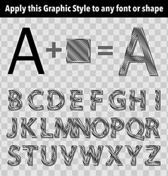 Metal graphic style 3 vector