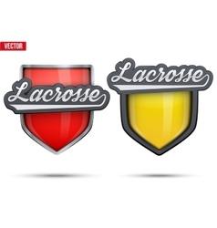 Premium symbols of lacrosse tag vector