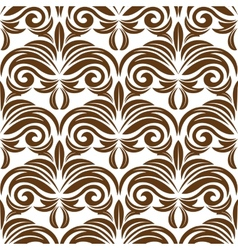 Retro brown floral seamless pattern vector image vector image