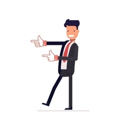 Satisfied businessman or manager indicates vector image
