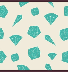 Seamless pattern crystal vector image vector image