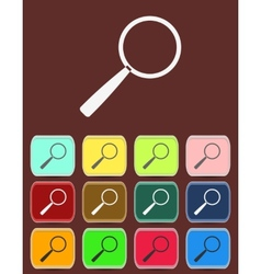 Search Icon with color variations vector image