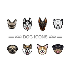 Set icons dogs vector