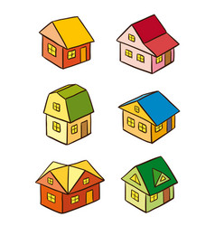 simple stylized houses vector image vector image