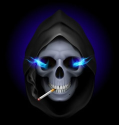 smoking kills Skull death 03 vector image vector image