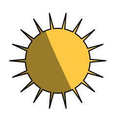 sun symbol isolated vector image