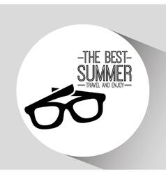 Sunglasses card best summer travel and enjoy vector