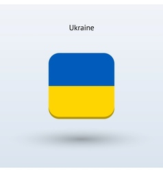 Ukraine flag icon vector