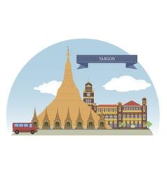 Yangon vector image vector image