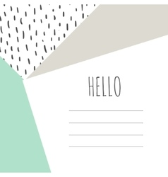 Hello card with geometric shapes vector