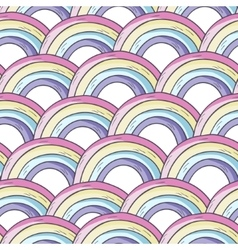 pattern with rainbow vector image