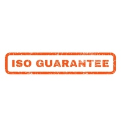 Iso guarantee rubber stamp vector