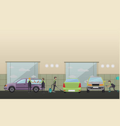 Car service machine repair concept vector