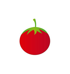 colorful silhouette tomato vegetable food vector image