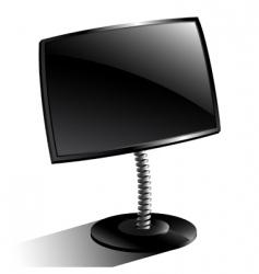 monitor black vector image