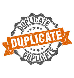 Duplicate stamp sign seal vector