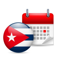 Icon of national day in cuba vector