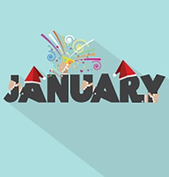January typography design vector