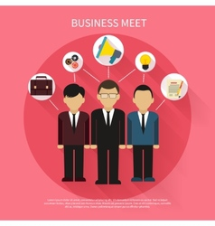 Business people on meet vector