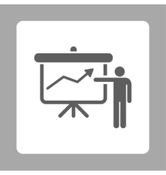Project presentation icon vector