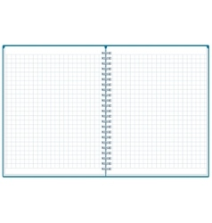 Exercise book open notebook plaid notebook vector