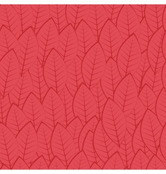 Pattern of leaves burgundy vector