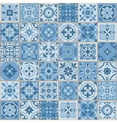 Seamless pattern white turkish tiles ornaments vector