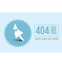 Page not found error 404 design for website or vector