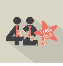 42nd years anniversary typography design vector