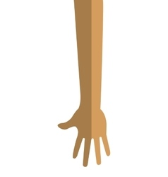 Arm and hand icon vector