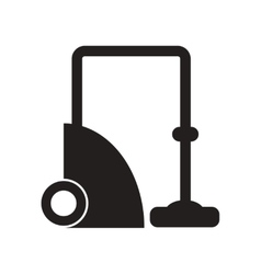 Flat icon in black and white style vacuum cleaner vector