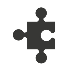 Puzzle piece isolated icon design vector